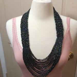 Seed Bead Braid Multi Strand Incandescent Necklace